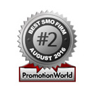 PromotionWorld Awards: Best SMO Company - August 2016