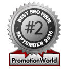 PromotionWorld Awards: Best SEO Company September 2016