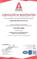 ISO 9001 certificate for PageTraffic